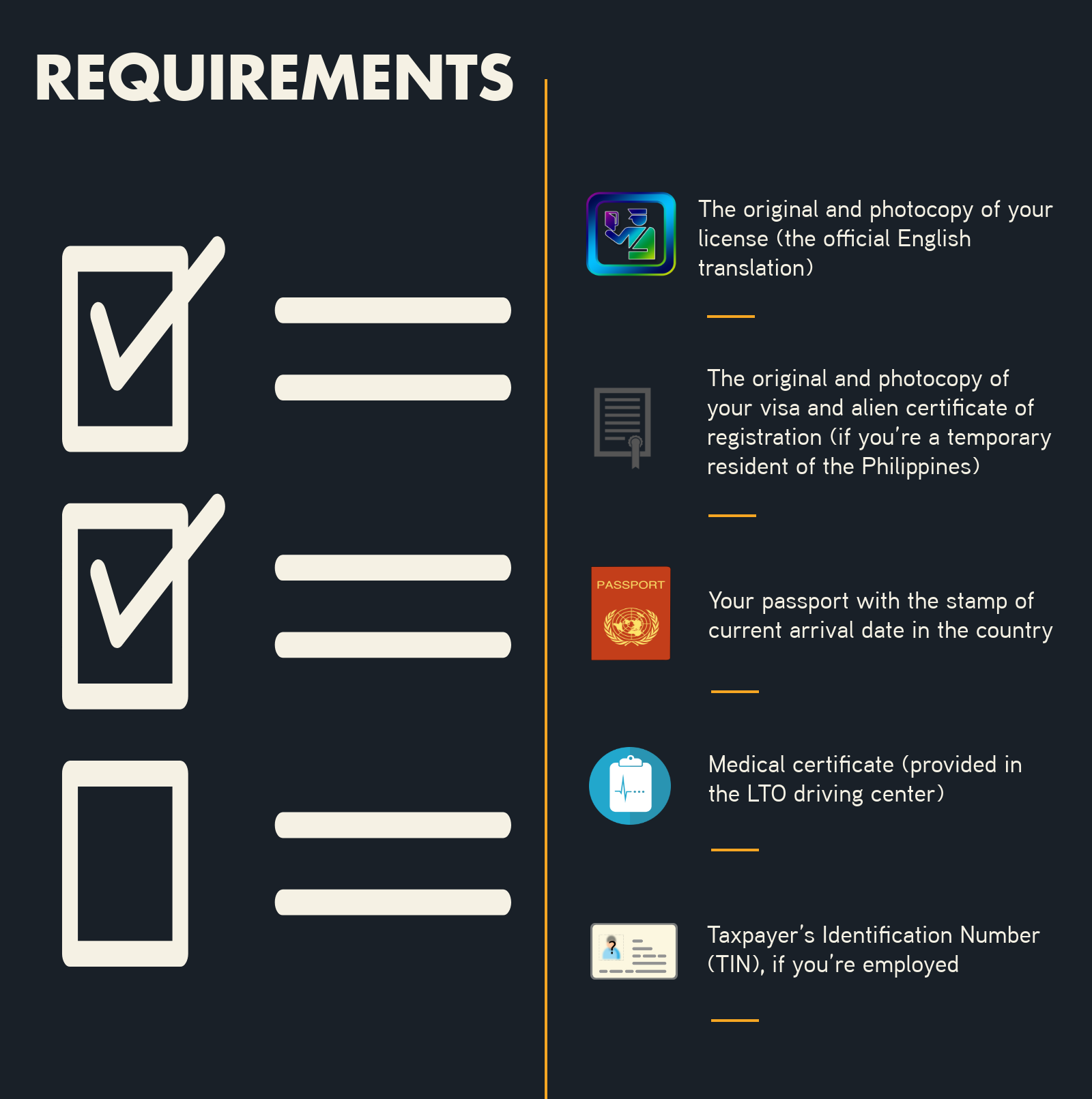 car rental requirements