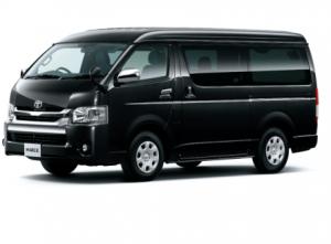 Black Toyota Hi Ace